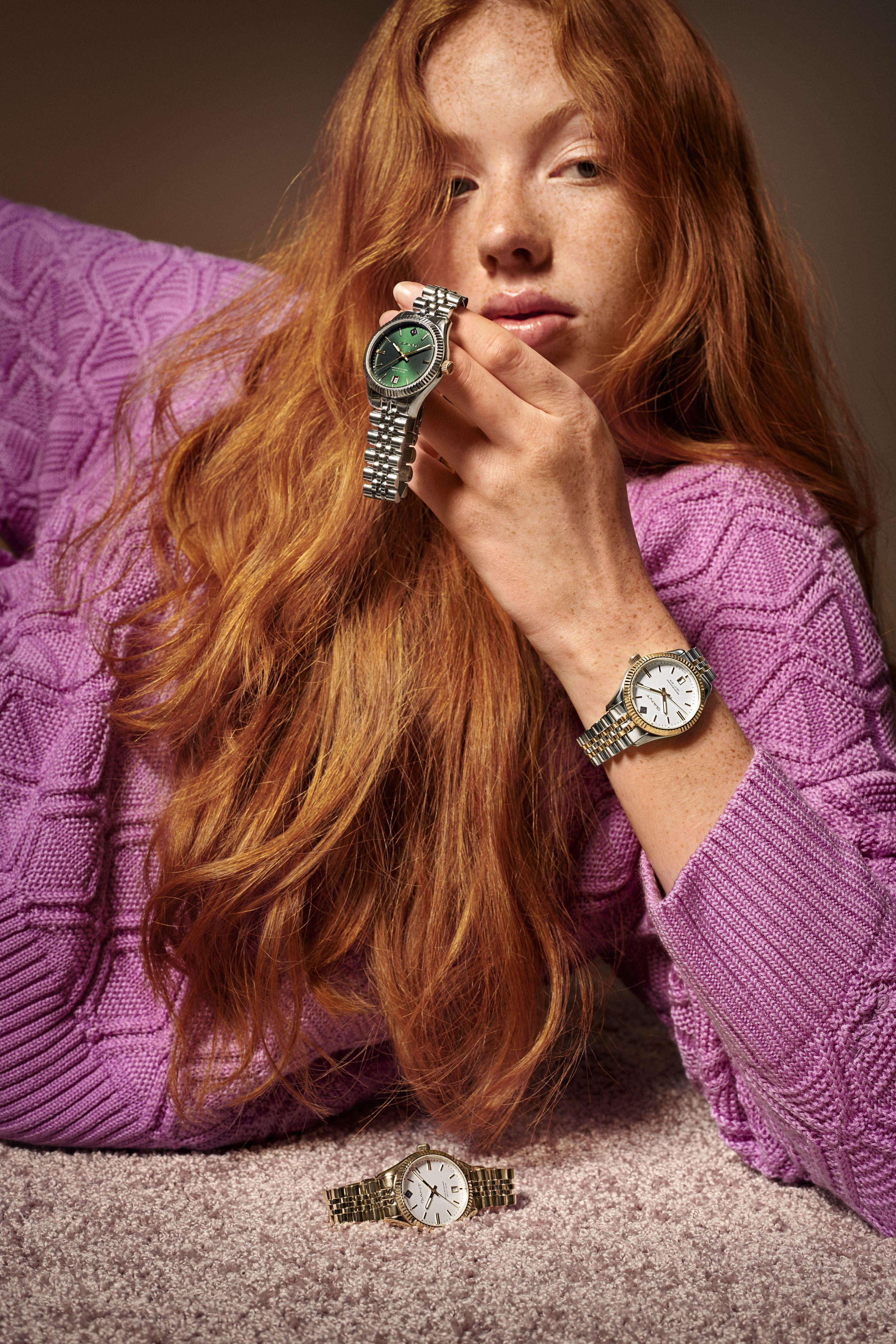 Kultatuvan valikoima on viime aikoina kasvanut Gant-merkin kelloilla. Gantin kellot ovat tunnettuja selkeälinjaisesta muotokielestään.