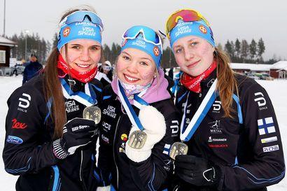 Kaksi viestimitalia Lappiin – Visa Ski Team Kemin pojat hopealla ja tytöt pronssilla nuorten SM-hiihtojen päätöspäivänä Kontiolahdella