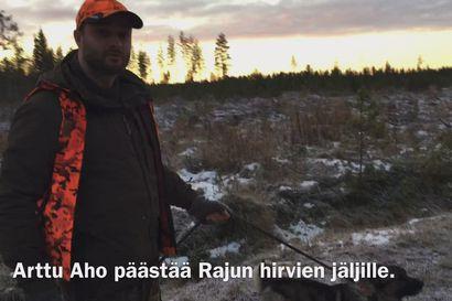Piippolan Kirkonkylän hirviporukka hirvijahdissa