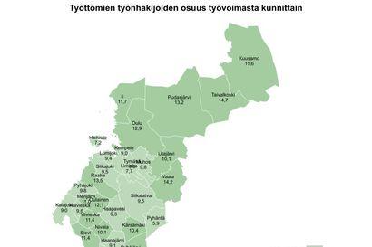 Pohjois-Pohjanmaalla 5000 työtöntä enemmän kuin vuosi sitten – Pyhännällä edelleen maakunnan paras työllisyystilanne