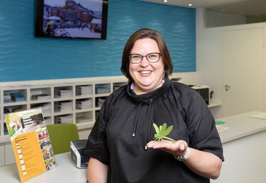 Anna Meriruoho on iloinen siitä, että saa markkinoida työssään suomalaista luontoa, koska se on hänelle tärkeä paikka.