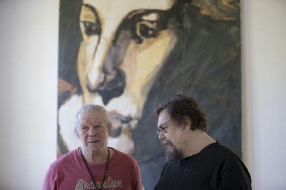 Kuutti Lavosen ja Ben Allal Ayadin ystävyys kantaa hedelmää Kankarin taidehuvilan kesänäyttelyssä –Lavosen isokokoiset teokset vangitsevat katsojan