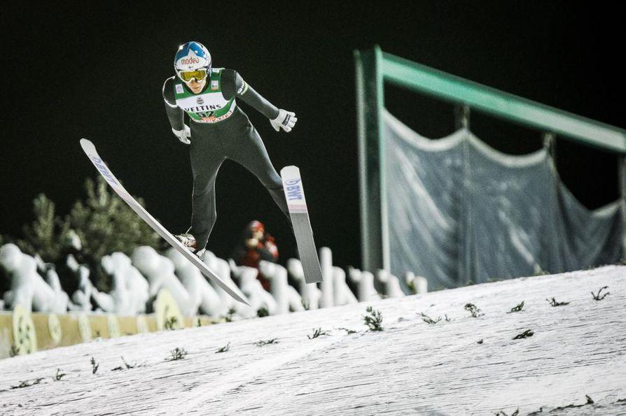 Antti Aalto hyppäsi hyvin harjoituksissa, mutta kilpailuhyppy ei kulkenut.