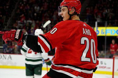 Sebastian Aho syötteli Rangersin kumoon – järjesteli venäläistaiturille hattutempun