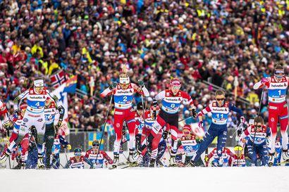 Ladun varressa on tunnelmaa – naisten 30 kilometrin kilpailua seurasi paikan päällä 15000 katsojaa
