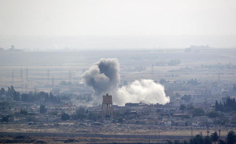 Turkin joukot ovat pommittaneet kohteita Pohjois-Syyriassa. Arkistokuva.