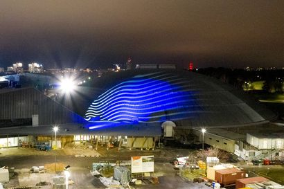 """Ouluhallin kupoli saa näyttävän valaistuksen – """"Emme ole tekemässä mitään sirkusvalaistusta, vaan pyrimme pienellä liikkeellä ja värisävyillä tunnelmalliseen valaistukseen"""""""
