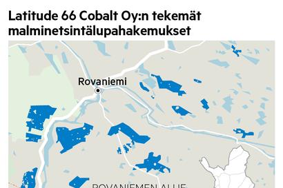 Latitude 66 Cobalt hakee 35000 hehtaarin malminetsintälupaa Rovaniemelle ja Tervolaan – Yhtiö etsii Etelä-Lapin maaperästä etenkin kobolttia