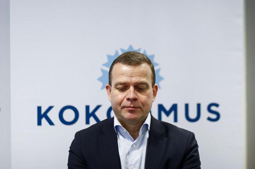 Orpo puhui kokoomuksen puoluehallituksen kokouksessa Helsingissä.