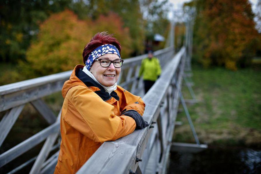 Suurin yllätys Marja-Leena Jormanaiselle on ollut, kuinka kiva uusi juoksu harrastus on. Vesisadekaan ei haittaa, kun lenkin jälkeen pääsee suoraan lämpimään saunaan.
