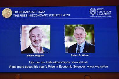Taloustieteen Nobel huutokauppateorian parantajille
