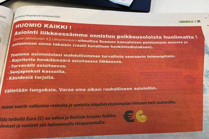 Rengasliike muistutti perustuslaista – houkutteli sivun ilmoituksella suomalaisia ostoksille Haaparantaan