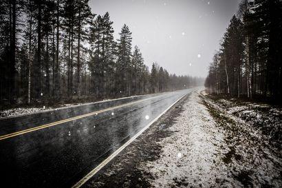 Räntä- ja lumisateet yltävät Lappiin –ajokeli on paikoin erittäin huono