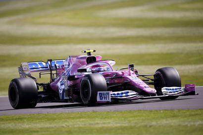 Stroll oli Silverstonen toisten harjoitusten ykkönen, Mersujen vauhti vielä vaisua