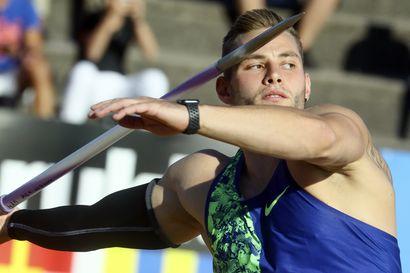 Johannes Vetter keihäsvoittoon Turussa maailman kärkituloksella 91,49 – suomalaiset ainoina alle 80 metrin