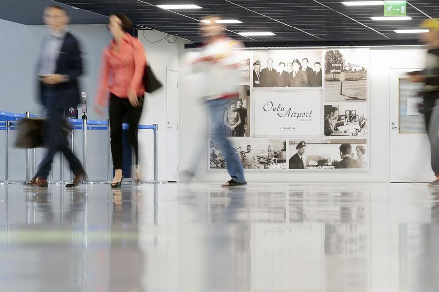 Finavia pitää yllä Suomen lentokenttiä. Arkistokuva Oulun lentoasemalta.