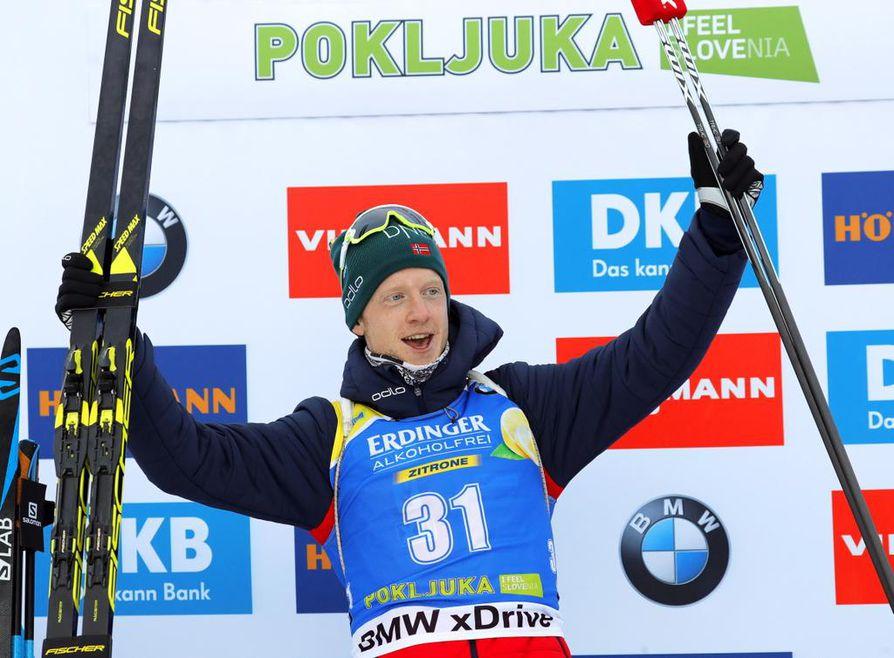 Kisan voittoon ylsi Norjan Johannes Thingnes Bö.