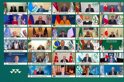 """G20-maiden johtajat vetosivat solidaarisuuteen – """"On vältettävä tilanne, jossa vain rikkaat voivat suojautua viruksilta"""""""