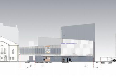 Kemin Kulttuuritalosta on tulossa korkea, Pirttiin yhdistyvä rakennus maanalaisella parkkitilalla