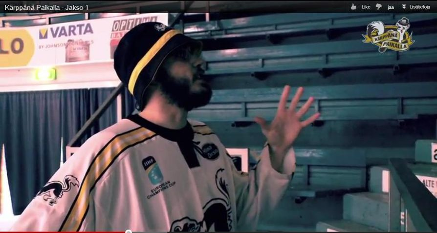 Kärppänä paikalla -videon kohtaus hermostutti SM-liigan.