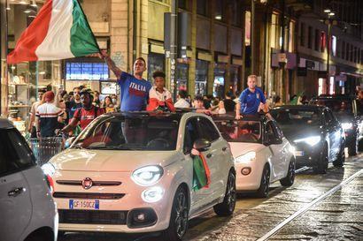 Italialaiset juhlivat villisti jalkapallon EM-mestaruutta