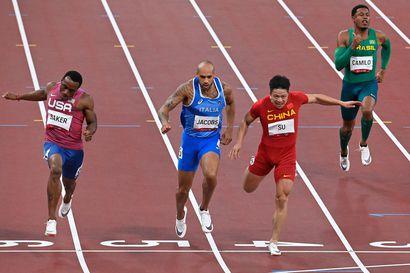 Italian Jacobs pinkoi satasen olympiavoittajaksi Euroopan ennätyksellä