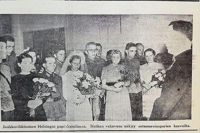 Vuosien takaa: Sota-ajan tanssikiellon aikana sai tanssia vain häävalssin, vieraat joutuivat katselemaan