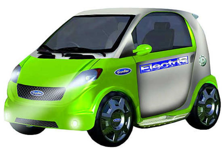 Sähköllä toimiva Sanifer mopoauto tulee markkinoille jo tämän kevään aikana.