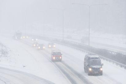Pääsiäisen paluuliikenteelle tulossa huono ajokeli Lappiin ja Pohjois-Pohjanmaalle
