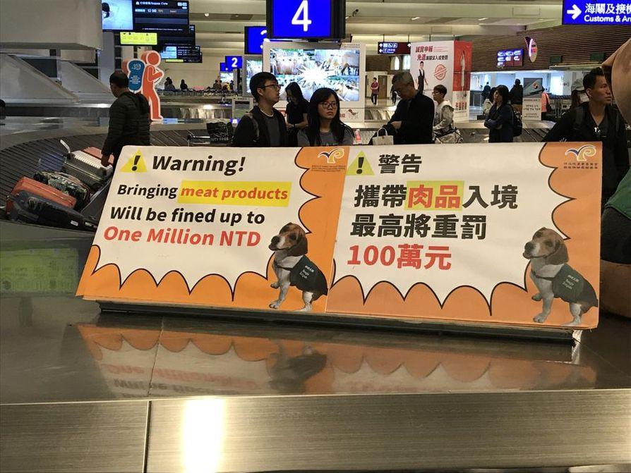 Taiwanissa saa lihan maahantuonnista lähes 30000 euron sakon. Aasiassa afrikkalainen sikarutto voi levitä suuren väkimäärän takia nopeasti.