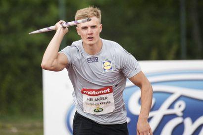 """Oliver Helander kiskaisi hirmutuloksella Suomen mestariksi, Limingan Niittomiesten Toni Keränen loppukilpailun viides – """"Mitään ei ollut tehtävissä, kun kaverit heittävät maailmanluokan tuloksia"""""""