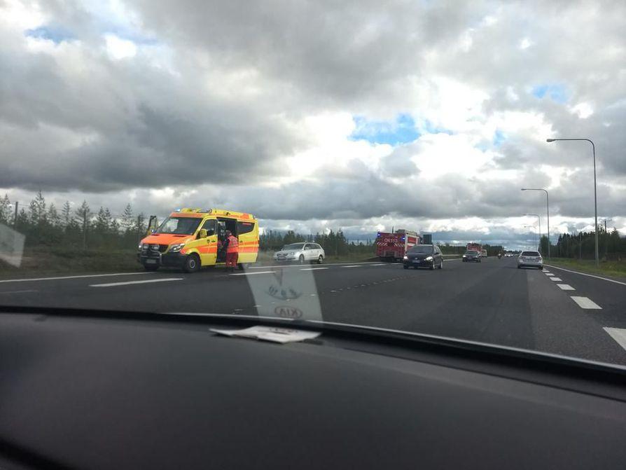 Onnettomuus tapahtui noin kello 14.50.