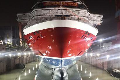 Kovia kokeneella Viking Linella vihdoin myös ilon aihe: Uusi Turun linjan laiva sai vettä alleen Kiinassa