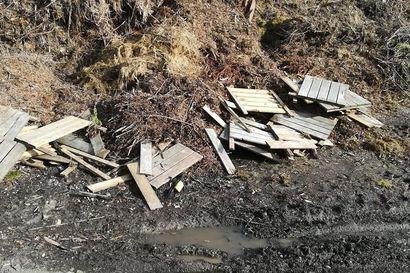 Jätteet oikeisiin paikkoihin - kyllästetty puinen pihalaatta ei kuulu puutarhajätteiden jäteasemalle
