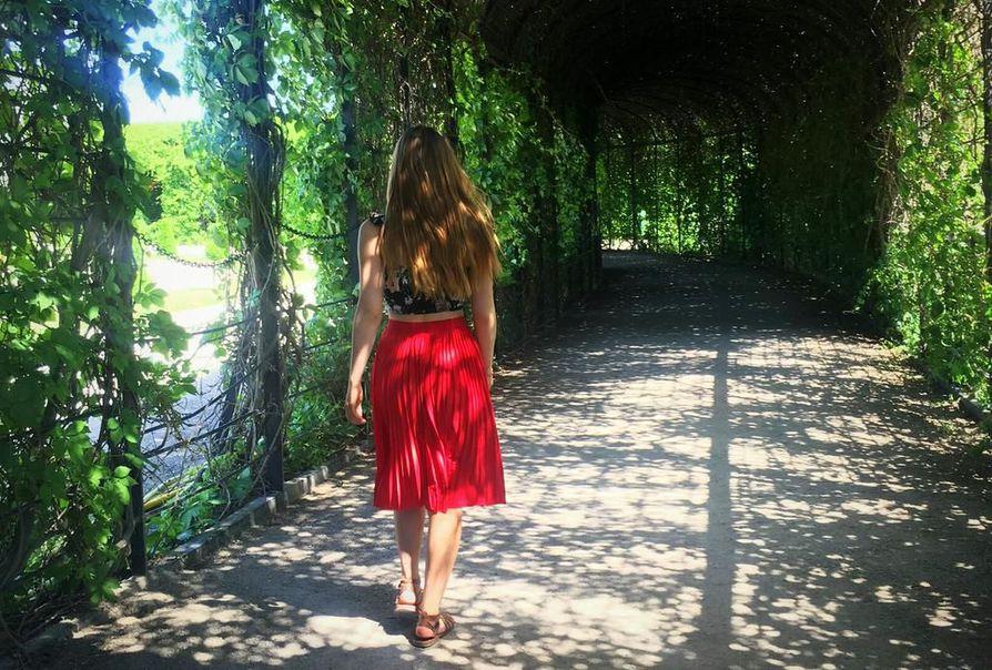 Kävelyretkellä Schönbrunnin linnan puutarhassa.