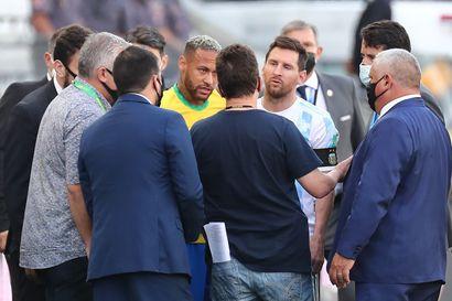 Brasilian ja Argentiinan MM-karsintapeli riistäytyi käsistä, terveysviranomaiset ja poliisi rynnivät kentälle