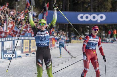 """Anne Kyllönen niukasti ulos välieristä - """"Mukavaa olla vapaan sprintissäkin pelissä mukana"""""""