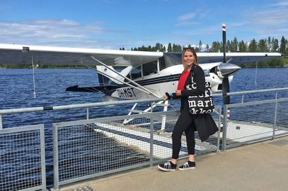 Unelma lentäjän urasta heräsi jo lapsena – Vilma tuli Kajaanista Pudasjärven lukioon ilmailulinjalle