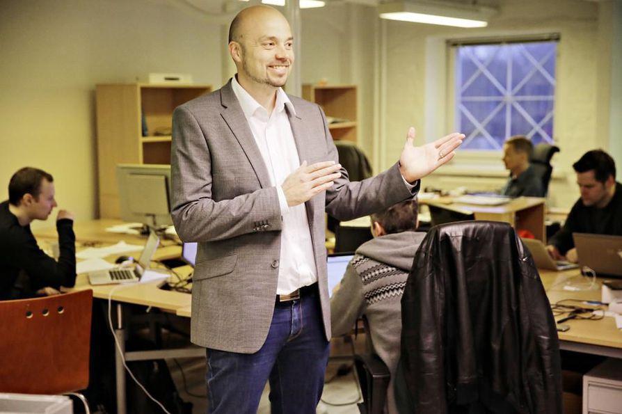 Haltianin toimitusjohtaja Pasi Leipälä on tyytyväinen yhteistyöhön Goren kanssa. Arkistojuttu.