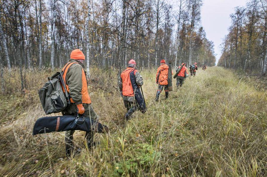 Myös pyyntilupamäärä vähentyi eniten Pohjois-Suomessa.