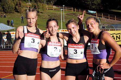 VKV:n kvartetti tuuletteli naisten 4x400 metrin Suomen mestaruutta