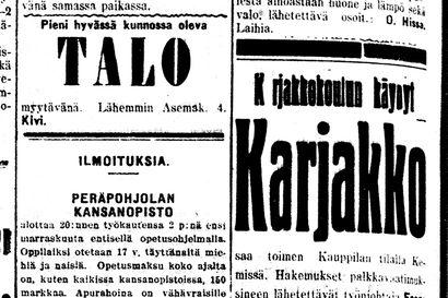 Vanha Kaleva: Oulun virkamiesten palkat saa Yhdyspankista, voi nostaa yhdellä kertaa tai vähitellen