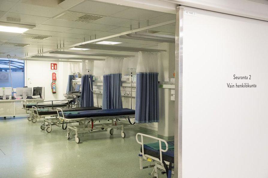OYSin yhteispäivystykseen saatiin remontin yhteydessä  huone päihdeongelmaisten potilaiden voinnin seurantaa varten. Huoneessa olisi työpisteet hoitohenkilökunnalle, jota ei ole vielä osoitettu yksikön käyttöä varten.