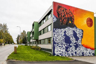 """Rovaniemi sai uuden kerrostalomuraalin: """"Toivottavasti se luo hyvää kuvaa taloyhtiöstä"""""""