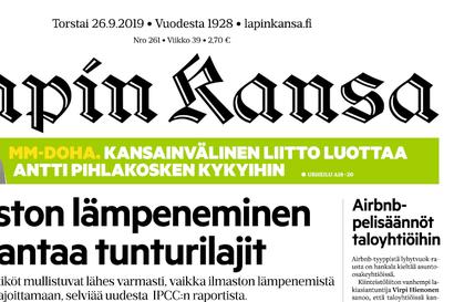 Sairaustapaukset ja poissaolot viivästyttävät Lapin Kansan jakelua Sodankylässä – näköislehti ja verkko ovat luettavissa