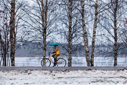 Matalapaine peittää Lapin tiistaina – ajokeli muuttuu huonoksi lumi- tai räntäsateen vuoksi