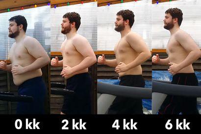 Mies laihtui juoksumatolla 20 kg puolessa vuodessa – Laihdutuksen vaikutukset yllättivät