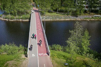 Oulun pyöräbaanaverkosto täydentyy lähivuosina, seuraava reitti suuntautuu Lentokentäntielle