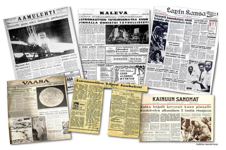 Maakuntalehdet julkaisivat tuoreeltaan runsaasti uutisia kuulennon jokaisesta käänteestä.