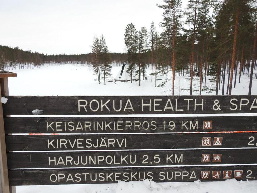 Patikoinnille, maastopyöräilylle ja hiihdolle on omat merkityt reittinsä.